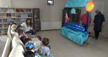 Çocuklara görsel masal saati programı