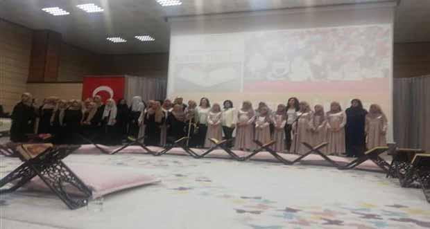 Kız Kur'an Kursu Öğrencilerimizden Kur'an Ziyafeti