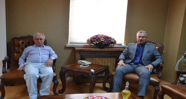 Prof. Dr. Muammer Yaylalı'dan Rektöre Ziyaret
