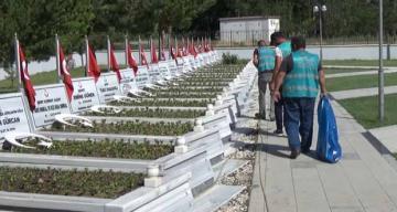 Denetimli Serbestlik Yükümlüleri, Erzincan Şehitliğini Temizledi