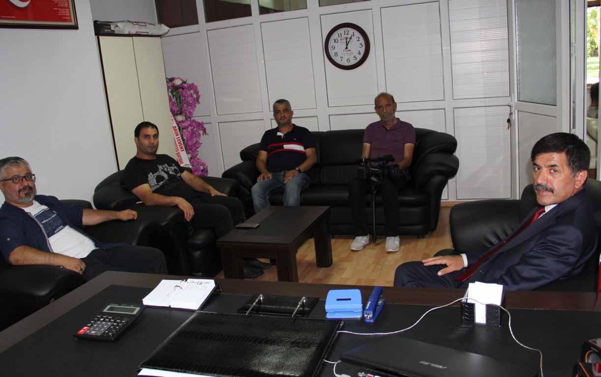 Erzincan Belediye Başkanı Bekir Aksun, Erzincan Gazeteciler Cemiyetini ziyaret etti