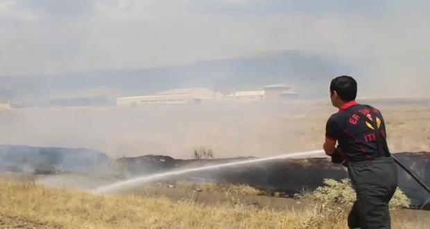 Yangına 3 itfaiye aracı müdahalede bulundu