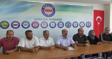 Erzincan'da toplu sözleşme sürecine ilişkin basın açıklaması yapıldı