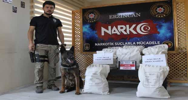 Erzincan Polisi uyuşturucuya geçit vermiyor