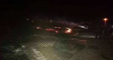 Çayırlı Sarıgülen köyü'nde yangın