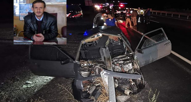 Otomobil bariyerlere saplandı: 1 ölü