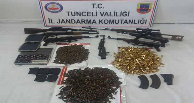 Tunceli Merkez Kırsalında Çok Sayıda Silah ve Mühimmat Ele Geçirildi