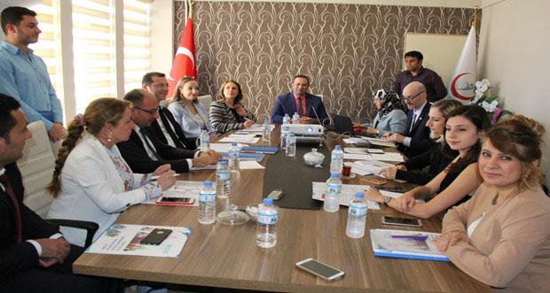 Dünya Sağlık Örgütü Türkiye Temsilcileri Erzincan'da