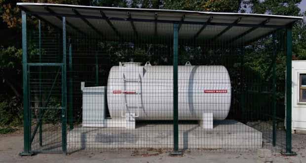 Erzincan Çağlayan Beldesinde yakıt tankları oluşturuldu