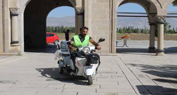Erzincan Terzibaba Mezarlığında Elektrikli araç hizmete sunuldu