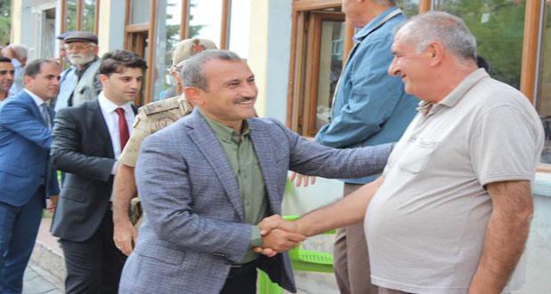 Vali Tuncay Sonel Kaymakam Muhammed Emin Nasır'a hayırlı olsun ziyaretinde bulundu