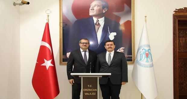 Azerbaycan Cumhuriyeti Ankara Büyükelçisi Hazar İbrahim, Erzincan Valiliği'ni Ziyaret Etti