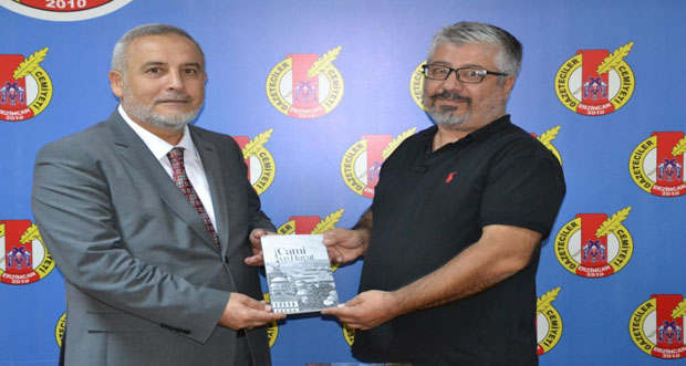 İl Müftüsü Mehmet Emin Çetin ,Erzincan Gazeteciler Cemiyetini ziyaret etti