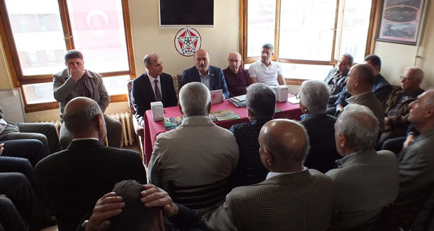 """ERDEF'te Hasbihal"""" programının konuğu Erzincan Milletvekili Süleyman Karaman oldu"""
