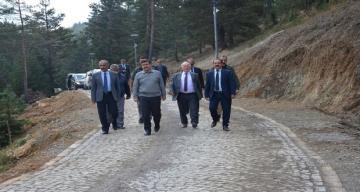Erzincan Valisi Ali ARSLANTAŞ yatırım çalışmalarını incelemek üzere Refahiye 'ye gitt