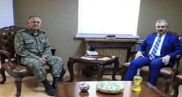 İl Jandarma Komutanından Rektör Prof. Dr. Akın Levent'e Ziyaret