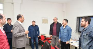 İl Milli Eğitim Müdürü Aziz Gün, Ölçme Değerlendirme Merkezi'ni Ziyaret Etti