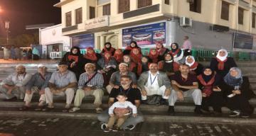 Umreye giden Erzincanlılar Umre ibadeti yerine getiriyorlar