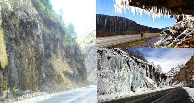 Ağlayan kayalar, dört mevsimde de tatilcilerin ilgi odağı oluyor