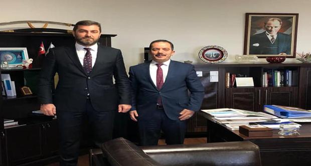 Refahiye Belediye Başkanı Çakmak Paçacı TOKİ Başkanlığında Başkan Yardımcısı Ömer Faruk Karabayır 'ı ziyaret etti