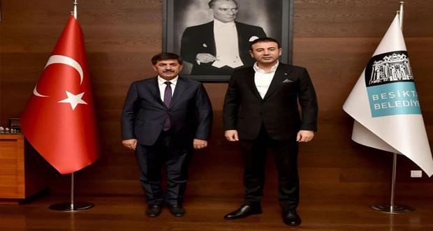Erzincan Belediye Başkanı Bekir Aksun ,Hemşehrimiz olan İstanbul Beşiktaş Belediye Başkanı Rıza Akpolat'ı ziyaret etti
