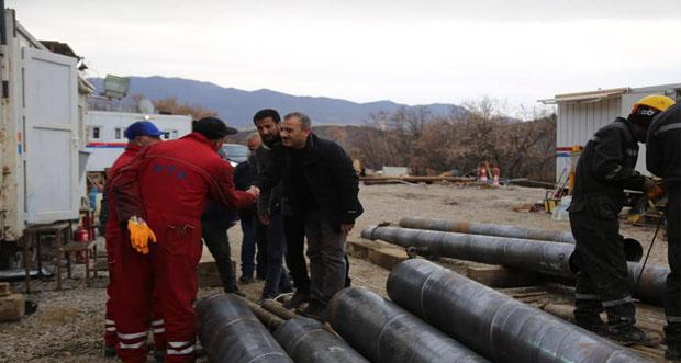Tunceli şehir merkezinde termal su bulundu