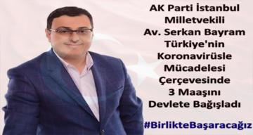 Ak Parti Vekil 3 Aylık Maaşını Devlete Bağışladı