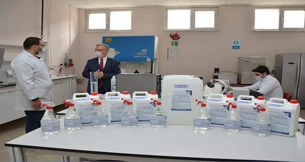 Erzincan halkının kullanması için 3200 LT EL ANTİSEPTİĞİ üretimi yapıldı