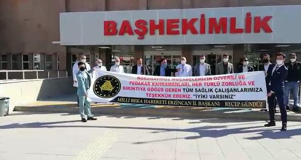 Milli Beka Hareketi Erzincan teşkilatından sağlık çalışanlarına destek