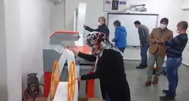 MASKE KESİM, KATLAMA, PRES MAKİNASI ÜRETİME BAŞLADI