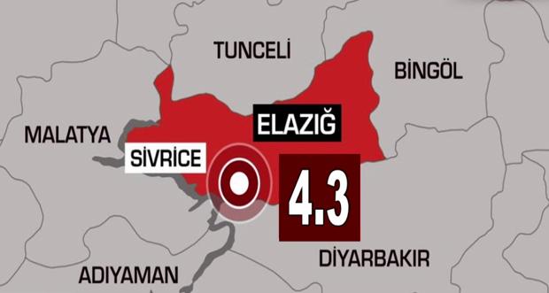ELAZIĞ SİVRİCE'DE 4.3 ŞİDDETİNDE DEPREM