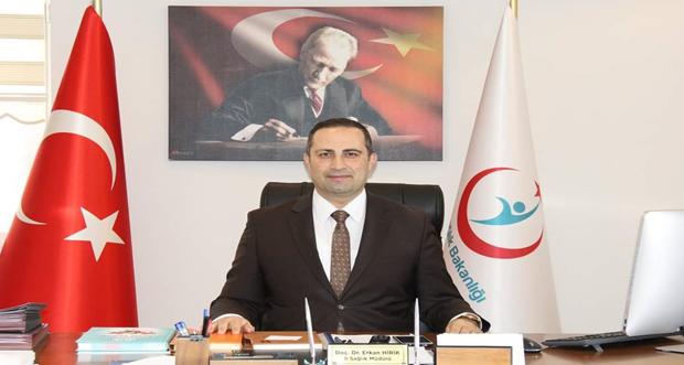 İl Sağlık Müdürü Doç. Dr. Erkan HİRİK 21-28 Nisan 'Ebeler Haftası' dolayısıyla mesaj yayımladı