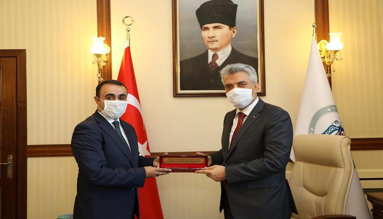 Erzurum Şenkaya ilçe Kaymakamı Çağlar Tekin'den Hayırlı Olsun Ziyareti
