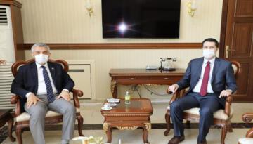 Erzincan İdare Mahkemesi Başkanı Kerem Özyardımcı Makas'a Hayırlı Olsun Ziyaretinde Bulundu