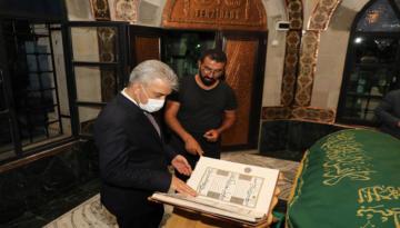 Erzincan Valisi Mehmet Makas İlk Çalışma Gününde Terzi Baba Hazretlerini Ziyaret Etti