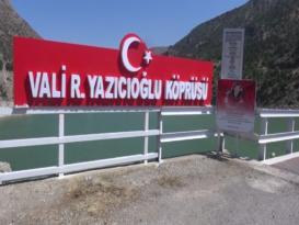 Vali Recep Yazıcıoğlu Köprüsü'nde tadilat yapıldı