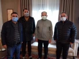 ERT ŞAH MEDYA GRUBUNDAN BAŞBAKAN YILDIRIM'A ZİYARET
