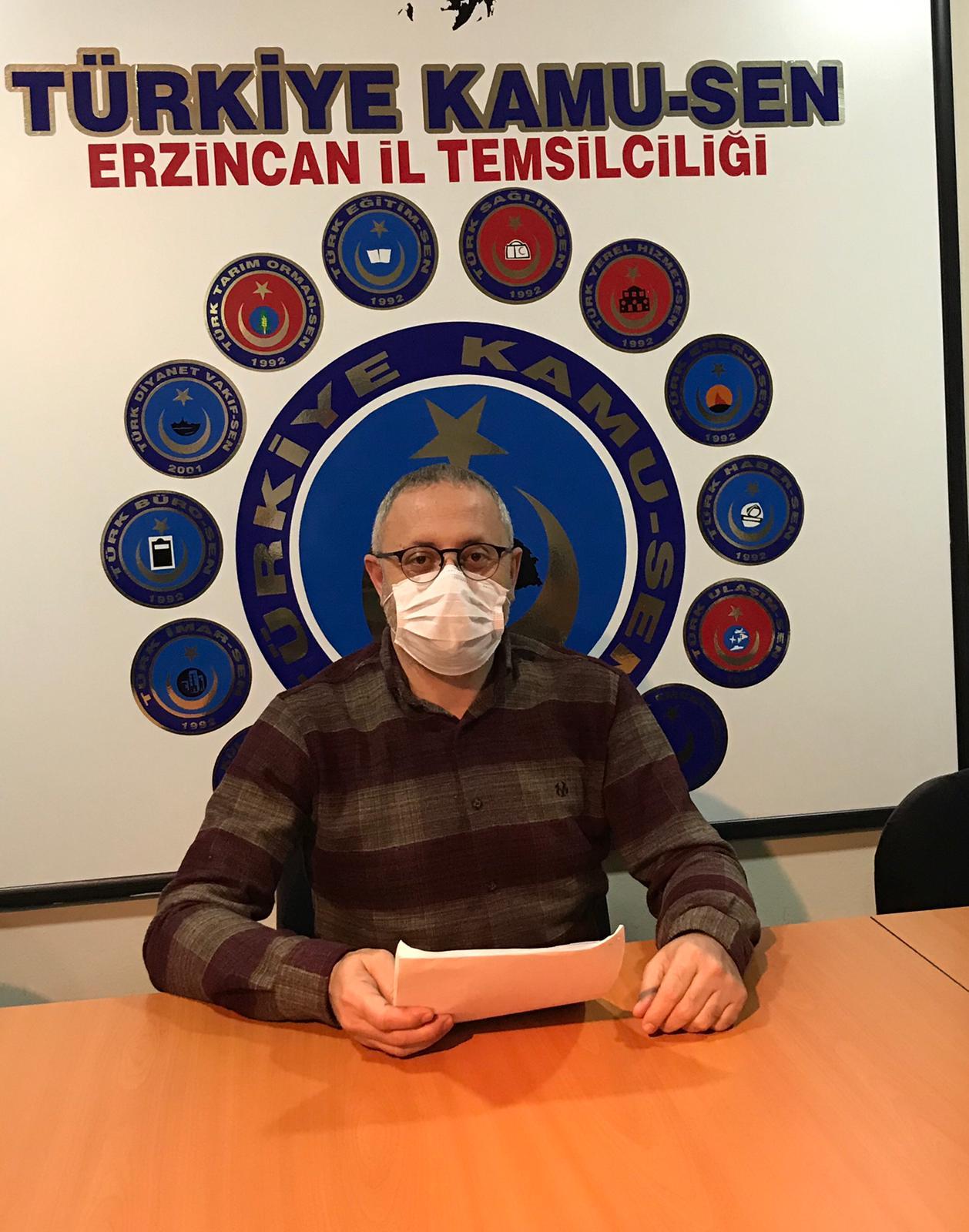 Türk Sağlık-Sen Erzincan Şube Başkanı M.Gökhan Şahin Açıklama Yaptı