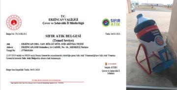 """ERZİNCAN OSB """"SIFIR ATIK BELGESİ"""" ALDI"""