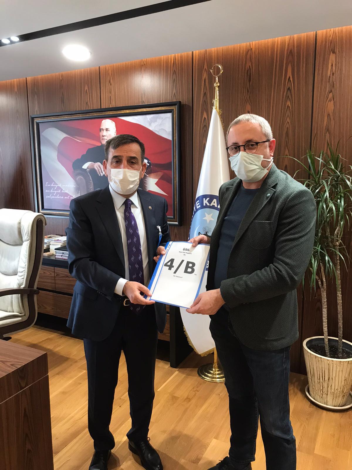 Türk Sağlık-Sen Erzincan Şube Başkanı M.Gökhan Şahin'den Türkiye Kamu-Sen ve Türk Sağlık-Sen Genel BaşkanıÖnder Kahveci'ye Ziyaret