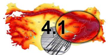 PÜLÜMÜR'DE 4.1 ŞİDDETİNDE DEPREM