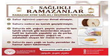 RAMAZANDA SAĞLIKLI BESLENMEYE DİKKAT!
