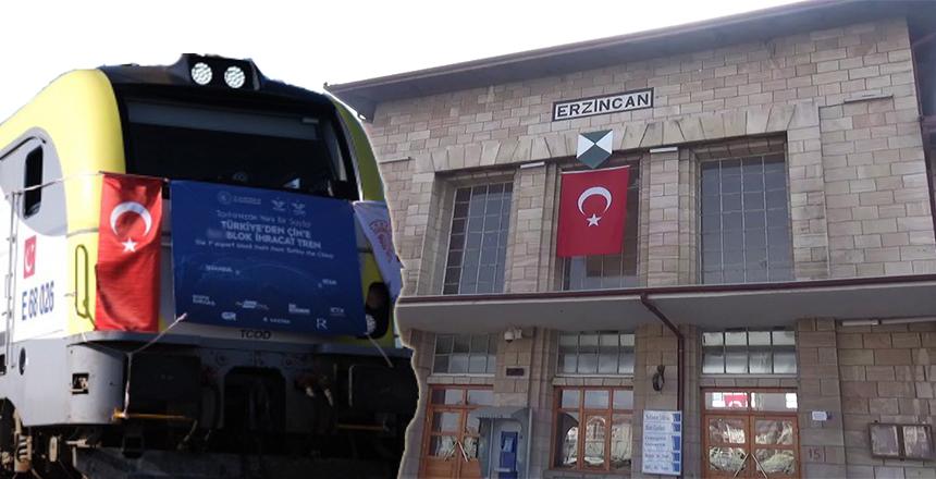 İHRACAT TRENİ ERZİNCAN'A GELDİ