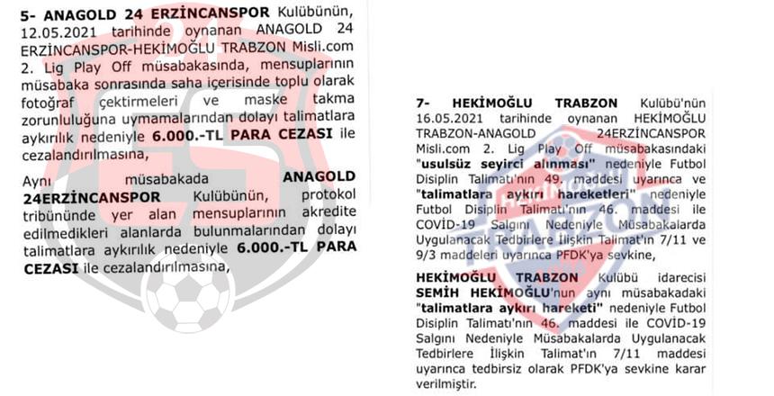 HEKİMOĞLU TRABZON PFDK'YA SEVK EDİLDİ