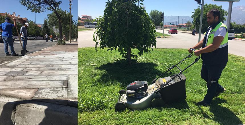 BELEDİYE'DEN ÜST YAPI ÇALIŞMALARI