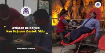 BELEDİYE'DEN KAN BAĞIŞINA DESTEK