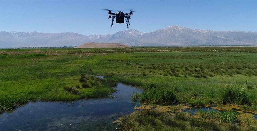 EKŞİSU MESİRE ALANI ÇEVRESİ DRONE İLE İLAÇLANIYOR