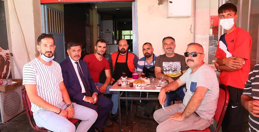BAŞKAN AKSUN'UN ESNAF ZİYARETLERİ SÜRÜYOR