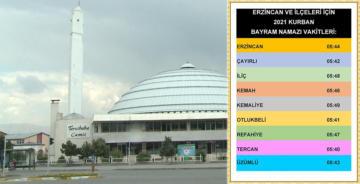 BAYRAM NAMAZI 05.44'TE KILINACAK
