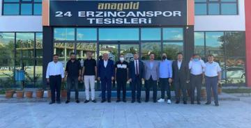 MİLLETVEKİLLERİ ERZİNCANSPOR'U ZİYARET ETTİ